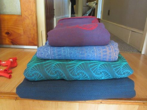 Wovens - Didymos Trageschule, Didymos Indio Severn Sky, Firespiral Librarian and Didymos Lisca Achat